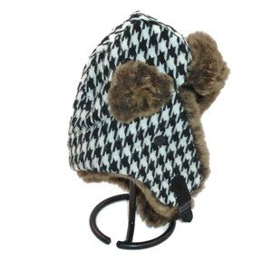 Fargo Ear Flap Ushanka Hat Plaid Faux Fur